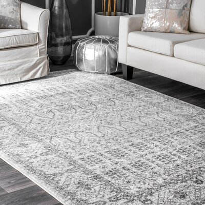 Katondra Gray Area Rug Rug Size: Rectangle 76 x 96