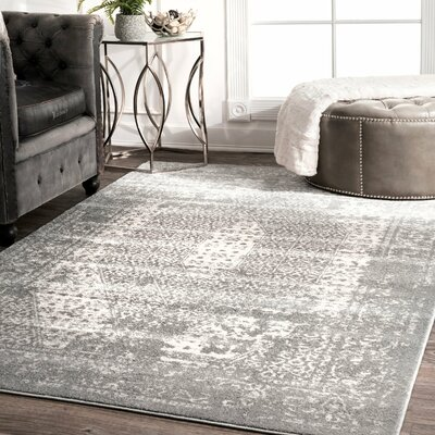 Hien Dark Gray Area Rug Rug Size: Rectangle 76 x 96