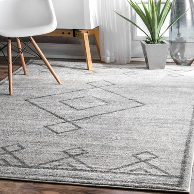 Ottino Gray Area Rug Rug Size: Rectangle 76 x 96