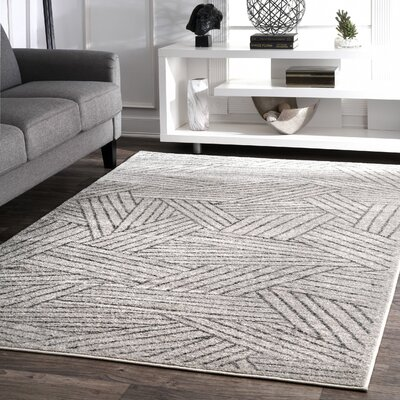 Stallworth Gray Area Rug Rug Size: Rectangle 5 x 8