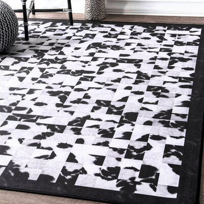 Bulger Black/White Area Rug Rug Size: Rectangle 6 x 9