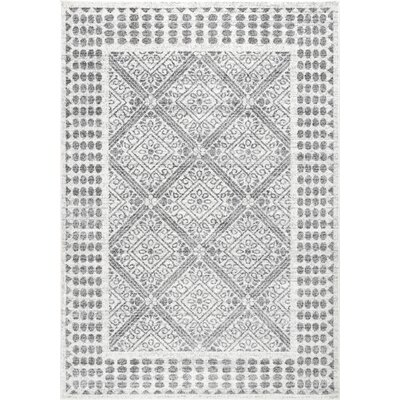 Century Village Gray Area Rug Rug Size: Rectangle 76 x 96