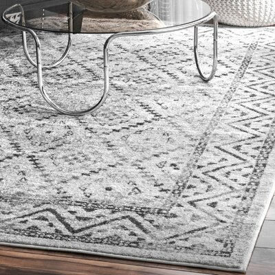 Palma Gray Area Rug Rug Size: Rectangle 82 x 116