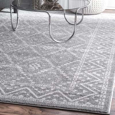 Norine Dark Gray Area Rug Rug Size: Rectangle 5 x 8