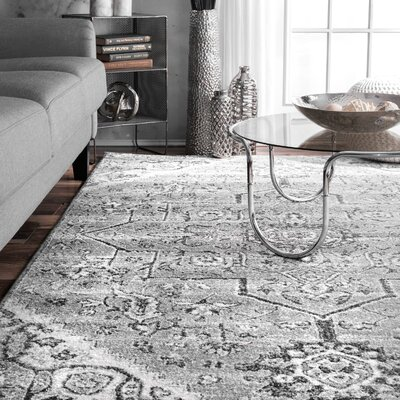 Oralia Gray Area Rug Rug Size: Rectangle 76 x 96