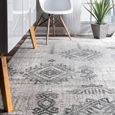 Tweedbrook Gray Area Rug Rug Size: Rectangle 76 x 96