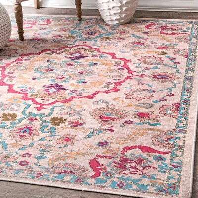 Cayuse Pink/Teal Area Rug Rug Size: Rectangle 6 x 9