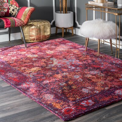 Mooresville Hand Tufted Purple Area Rug Rug Size: Rectangle 5 x 8