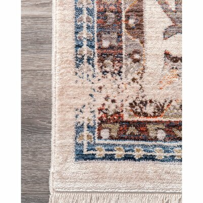Rohnert Park Dark Blue/Ivory Area Rug Rug Size: Rectangle 3 x 5