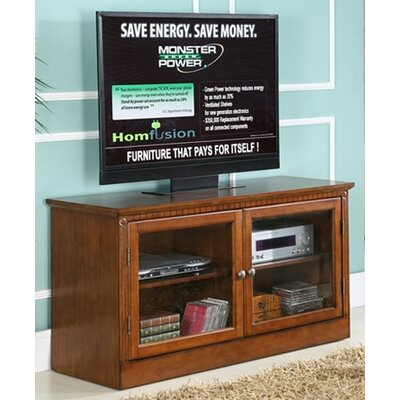 Cheap HomFusion by Sunset Trading Esquire 48″ TV Stand with Center Mounted Monster Power HD 850 Green Power Center (HFS1004)
