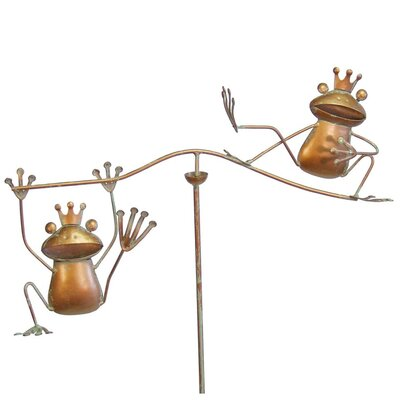 Small Frogs Wind Balancer Garden Stake 4301
