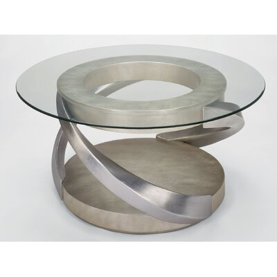 Round Coffee Table In Old World Silver And Black RXE1044 Coffee