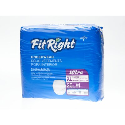 Medline FitRight Ultra Protective Underwear (Pack of 20) - Size: Extra Large at Sears.com