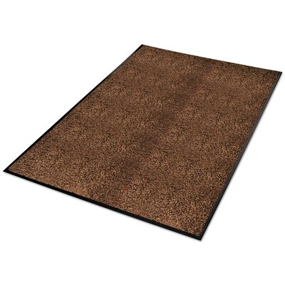 Platinum Series Indoor Wiper Doormat Rug Size: Rectangle 4 x 6, Color: Brown