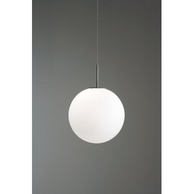 Sferis Suspension 1-Light Mini Pendant Finish: Chrome, Size: 11.8 W x 11.8 D, Bulb Type: GX24q-3 32W Fluorescent