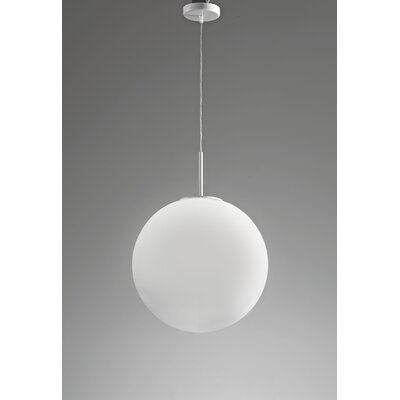 Sferis Suspension 1-Light Mini Pendant Finish: White, Size: 19.7 W x 19.7 D