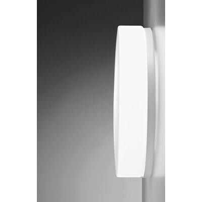 Drum 1-Light Flush Mount Finish: White, Bulb Type: E26 60W Max Incandescent