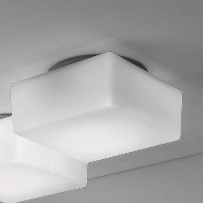 Quadris 1-Light Flush Mount Size: 4.4 H x 7.1 W x 7.1 D