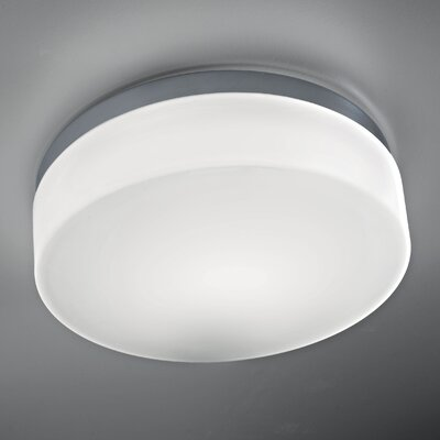 Drum 1-Light Flush Mount Finish: Chrome, Bulb Type: E26 60W Max Incandescent