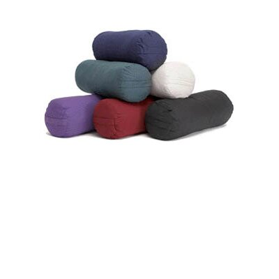 Financing Round Cotton Bolster Color: Purple...