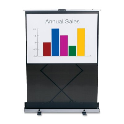 Black Portable Projection Screen Size: 60 H x 60 W