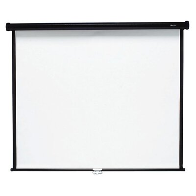 Matte White Manual Projection Screen Size: 60 H x 60 W