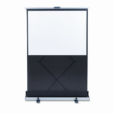 Matte White Portable Projection Screen Viewing Area: 60 H x 60 W