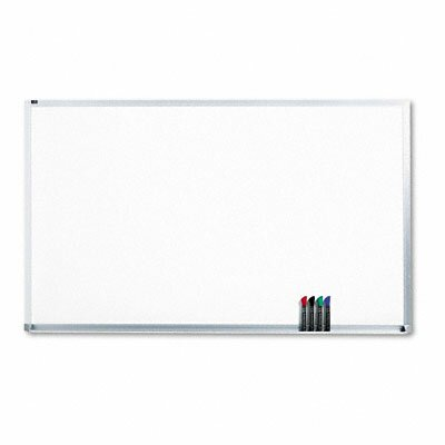 "Quartet Magnetic Dry-Erase Porcelain Board in White with Aluminum Frame 96"" W x 48"" D at Sears.com"