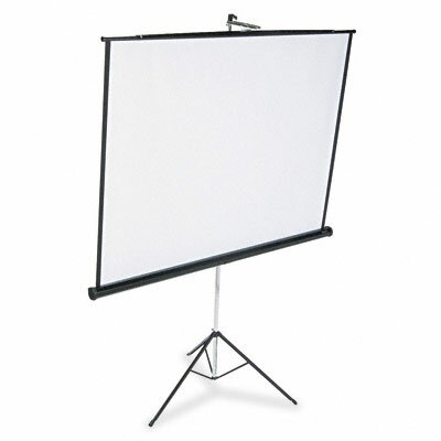 Matte White Portable Projection Screen Viewing Area: 70 H x 70 W