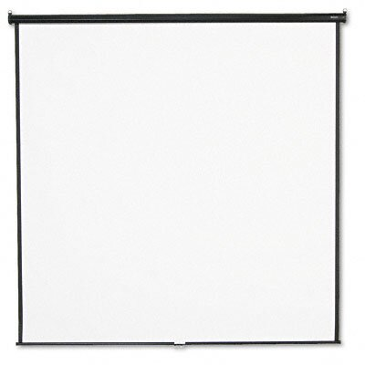 Matte White Manual Projection Screen Viewing Area: 96 H x 96 W