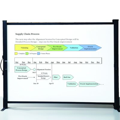 Matte White Portable Projection Screen Size: 40