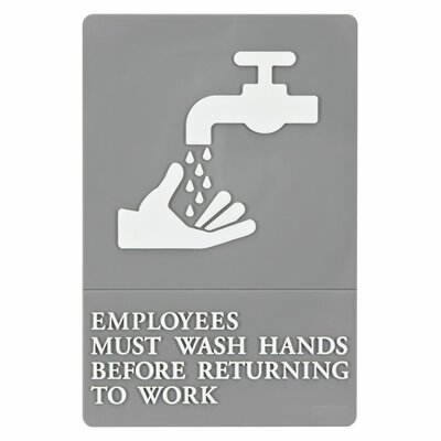ADA Employees Must Wash Hands Sign