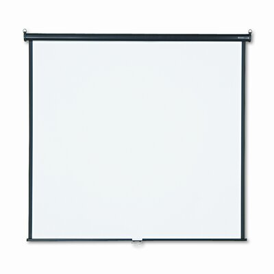 Matte White Manual Projection Screen Size: 70 H x 70 W