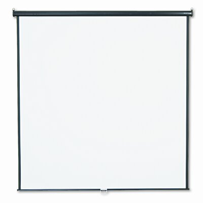 Matte White Manual Projection Screen Viewing Area: 84 H x 84W