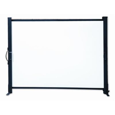 Matte White Portable Projection Screen Size: 50