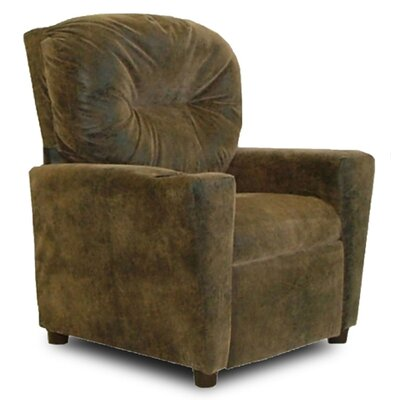 Kids Cotton Recliner with Cup Holder Color: Brown Bomber 9949