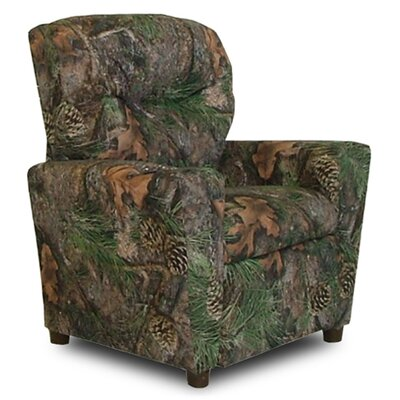Camo Kids Recliner with Cup Holder Color: Green Camouflage 9755