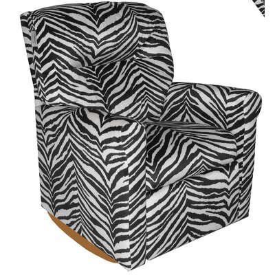 Contemporary Zebra Rocker Kids Box Cushion Recliner Slipcover