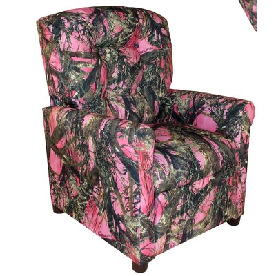 4 Button Camo Kids Recliner Color: Camouflage Pink - True Timber