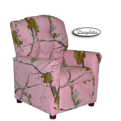 4 Button Camo Kids Recliner Color: Camouflage True Timber Snowfall