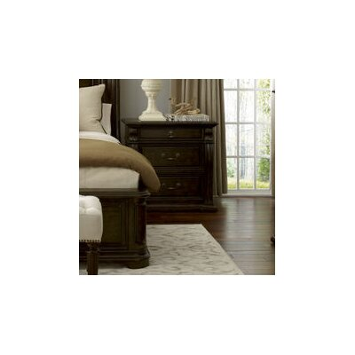 Augill 3 Drawer Espresso Nightstand