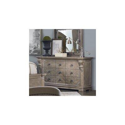 Carolin 9 Drawer Standard Dresser Color: Light Oak