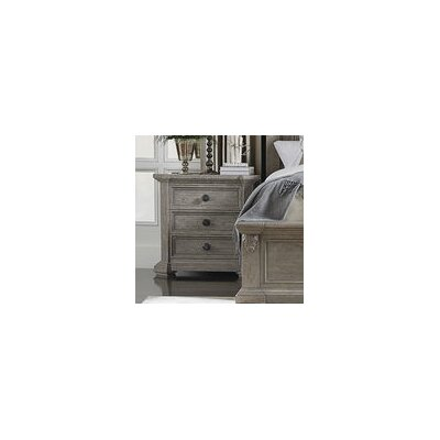 Carolin 3 Drawer Nightstand Color: Gray