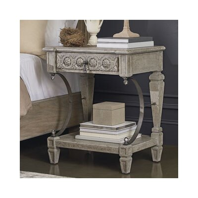 Carolin 1 Drawer Nightstand Color: Gray