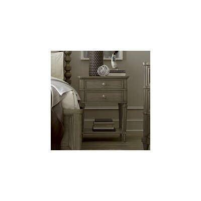 Delahunt Transitional 2 Drawer Nightstand Color: Sandstone