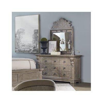 Carolin 9 Drawer Dresser with Mirror