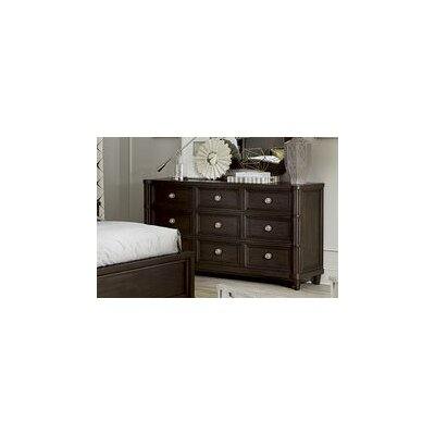 Patel 9 Drawer Standard Dresser Color: Coffee