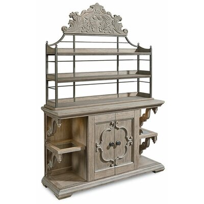 Carolin Lighted Console China Cabinet