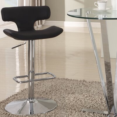 Pneumatic Gas Adjustable Height Swivel Bar Stool Finish: Black