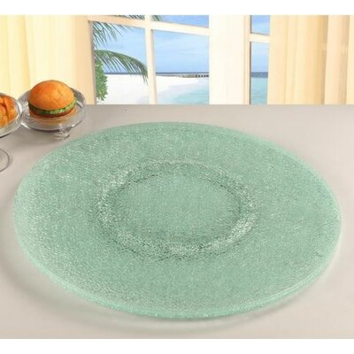 "Chintaly Sandwich Glass Lazy Susan 24"" In Clear Glass LAZY-SUSAN-24S"